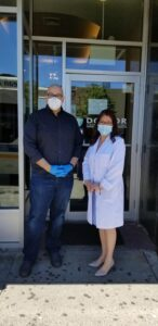 Hon. Gustavo Rivera took a covid-19 test at Doctor Urgent Medical Care at 538 E Fordham Road